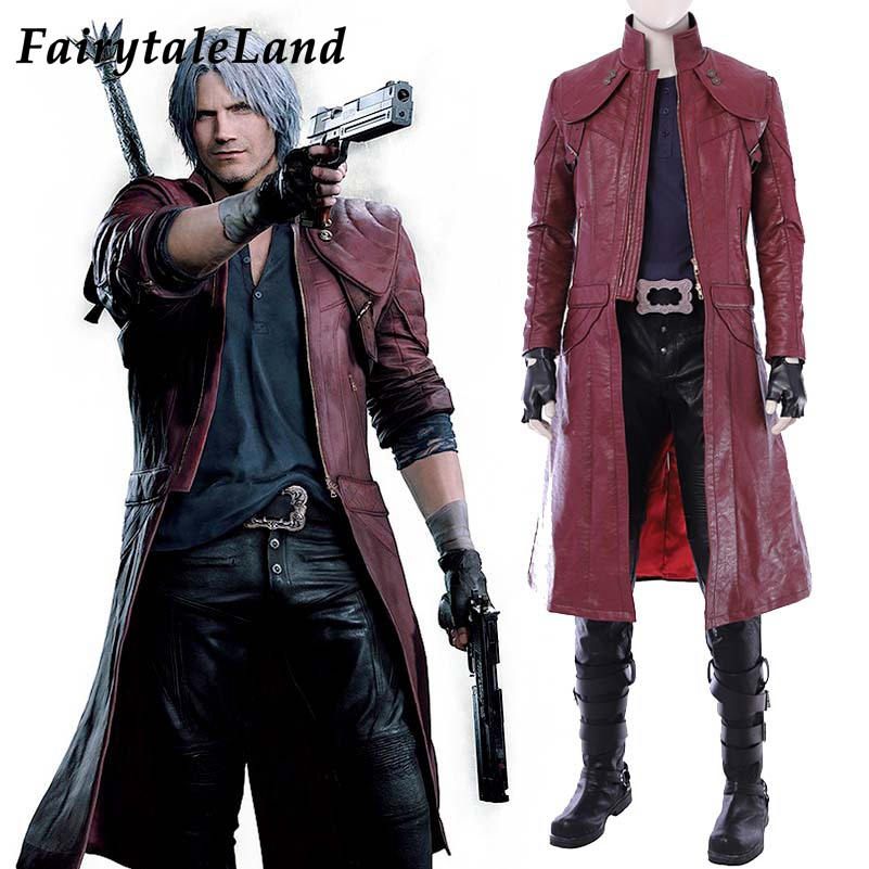 Devil May Cry 5 Dante Cosplay Costume Christmas Halloween Costumes Cosplay Dante Jacket Clothing Fancy Costume Custom Made