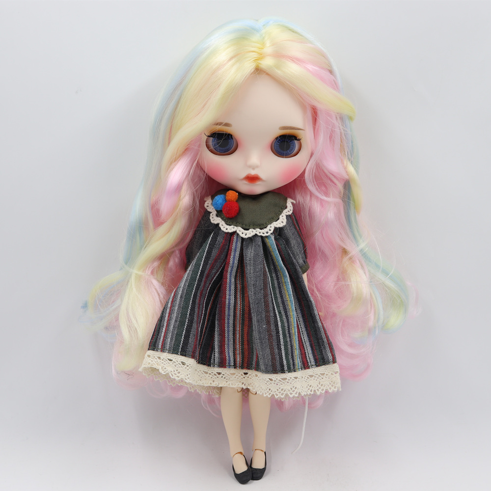 ICY Nude Blyth doll No BL1017 136 288 6005 pink mix hair matte face and whith