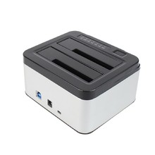 Dual Bays SATA Hard Drive Disk Case Dock 3.5″ 2.5″ HDD SSD Station Offline clone