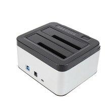 NOYOKERE Dual Bays SATA Hard Drive Disk Case Dock 3 5 2 5 HDD SSD Station
