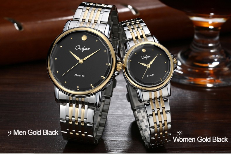 Onlyou Luxury Brand Watches Mens Womens Quartz Wrist Watch Steel  Ladies Dress Watch Silver Gold Female Male Watch Clock 8865 onlyou brand luxury watches womens men quartz watch stainless steel watchband wristwatches fashion ladies dress watch clock 8861