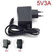 DC 5V 3A 3000mA Micro USB AC to DC Power Adapter supply Charger US EU Plug 100V – 240V Converter for Raspberry Pi Tablet Pc