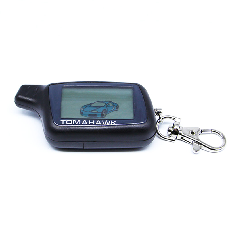 Free shipping X5 LCD Remote Controller Key Fob Chain For Tomahawk X5 2-way car alarm system LCD remote Starter Tomahawk X5