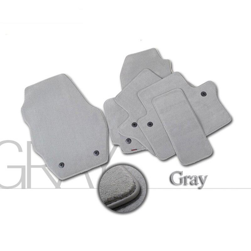 4pcs Premium Solid Nylon negro alfombras de piso del coche alfombra - Accesorios de interior de coche - foto 2