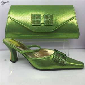 Latest green poited toe design