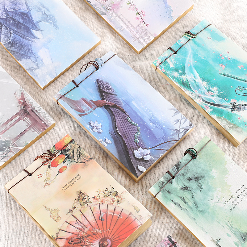 Creative Vintage Chinese Style Notebooks Cute Kawai Kraft Paper Books For Sketching Korean Stationery Office School Supplies