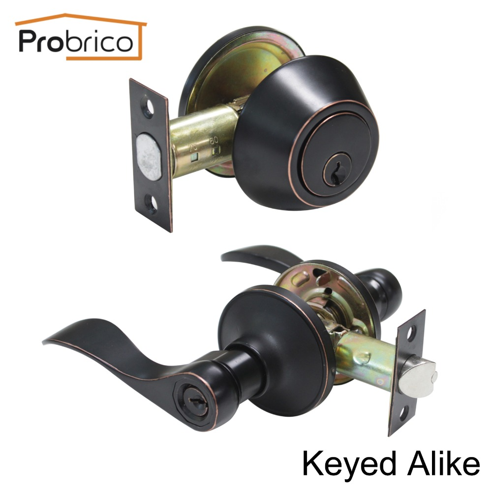 Probrico Lever Stainless Steel Keyed Alike Entrance Door