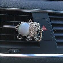 Retro elefante De Metal estilo Do Carro Ornamentos Pavão forma Automóvel carro perfume ar condicionado perfume clipe de Homens e mulheres