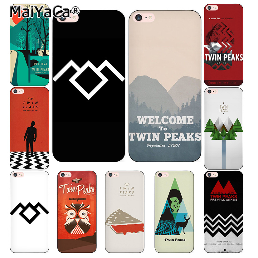 MaiYaCa Welcome To Twin Peaks Black Cover Case for iPhone X 8 7 6 6S Plus 5 5S SE Case ...