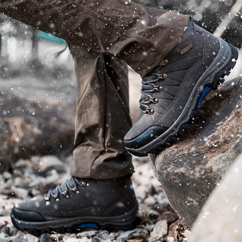 Prova Marca Calçado Inverno cinza Casuais Dos Pelúcia À Chaussures Botas Masculino De Sapatilhas Homens verde Neve D' Homem Sapatos Confortáveis Preto Hommes Luxo Quente Água Da tqx70Hqw