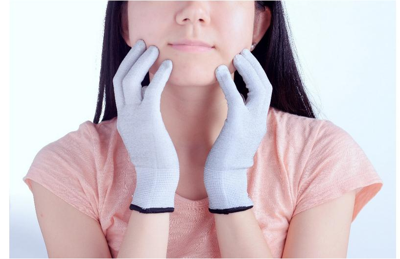Silver Fiber Electromagnetic Radiation Protective Gloves, EMF Blocking,Sterile Conductive Gloves
