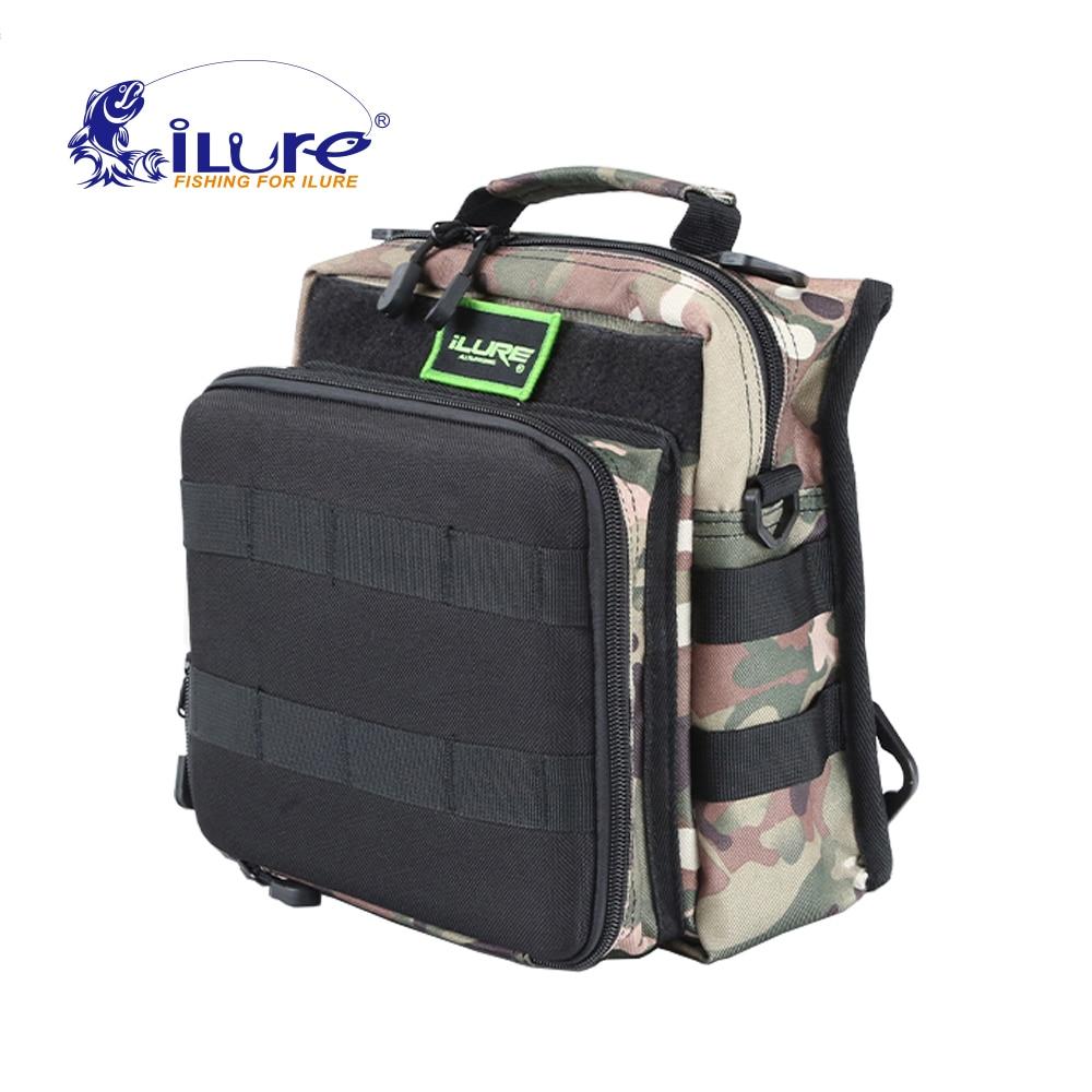 2017 New Brand iLure 24*13*22 cm multifunctional fishing bags waterproof fishing lure bag fishing tackle fishing bag backpack