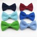 bowtie men knitted bow tie Pure color De Los nuevos Hombres de Punto fashion Smoking Ajustable ties