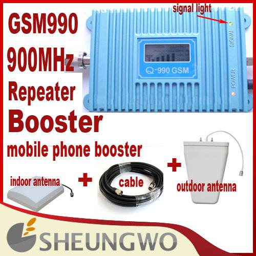Direct Marketing Sunhans GSM 990+900Mhz Coverage 3500square+indoor,outdoor antenna+10m cable signal booster repeater 1sets