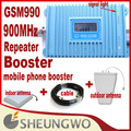 Marketing directo Sunhans GSM 990 900 Mhz Cobertura 3500 cuadrado + cubierta, antena al aire libre + 10 m cable amplificador de señal del repetidor 1 sets