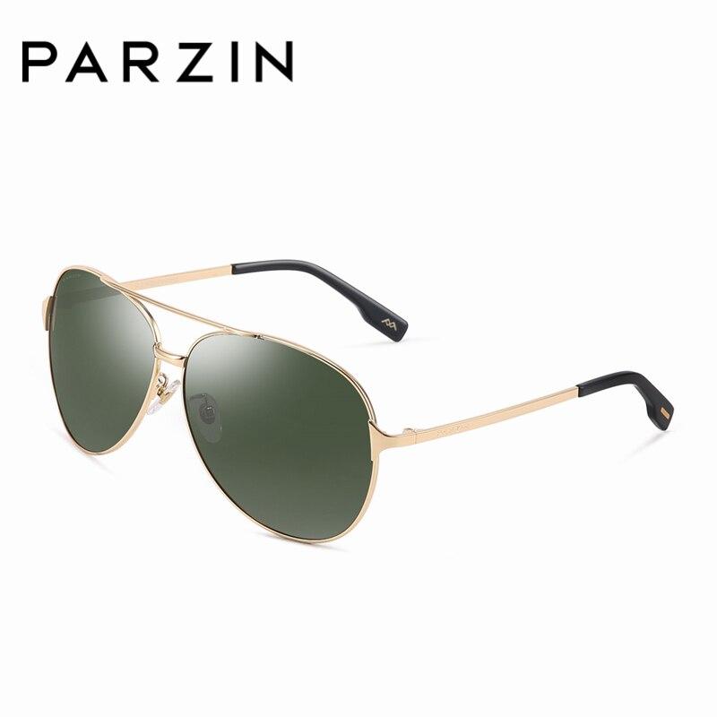 PARZIN высокое качество металла Polarized Pilot Sunglasses для мужские черные Пилот солнцезащитные очки бренд экономически эффективным с аксессуары