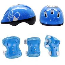купить Mounchain 7pcs/set Kid Roller Skating Bicycle Helmet Knee Wrist Guard Elbow Pad Set for Cycling Sports Protective Guard Gear дешево