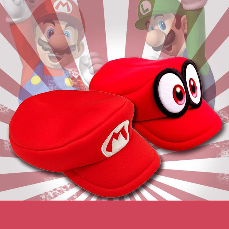 NEW Anime Hat Baseball Cap Peaked Cap Topee Sunhat Cosplay Costumes Prop Super Mario Luigi Bros Cappy Game Halloween Christmas