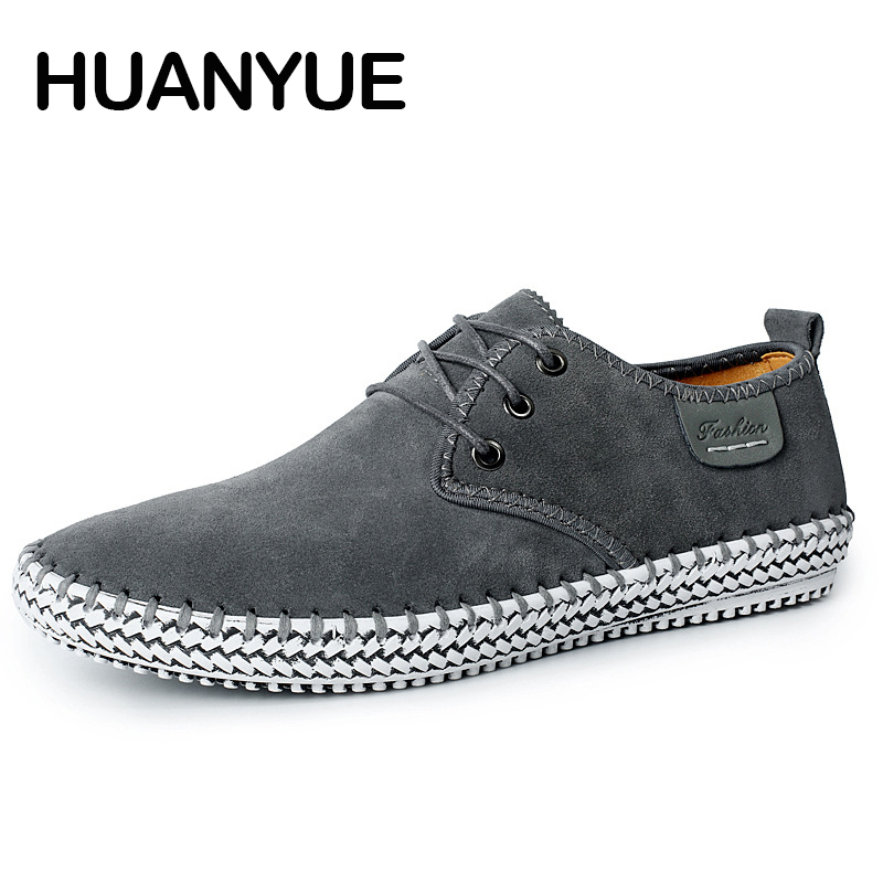 2018 New Autumn Man Shoes Breathable Men Casual Shoes High Quality Low Lace-up Flat Shoes Outdoor Driving Shoes Plus Size 38-47 все цены