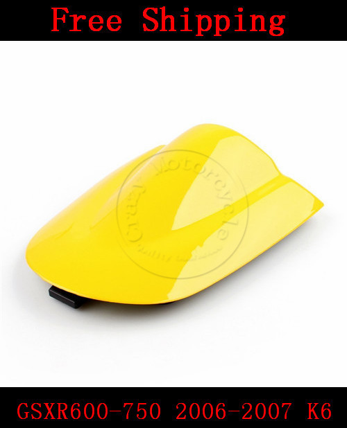 For Suzuki GSXR 600 GSX R 750 2006-2007 K6 motorbike seat cover Brand New Motorcycle Yellow fairing rear sear cowl cover for suzuki gsxr 600 gsx r 750 2006 2007 k6 motorbike seat cover brand new motorcycle black fairing rear sear cowl cover