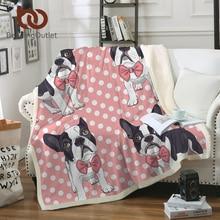 BeddingOutlet corbata Bulldog manta para niños de dibujos animados de  peluche manta de punto Rosa cama Sherpa manta de lana perr. 0608c702b84f