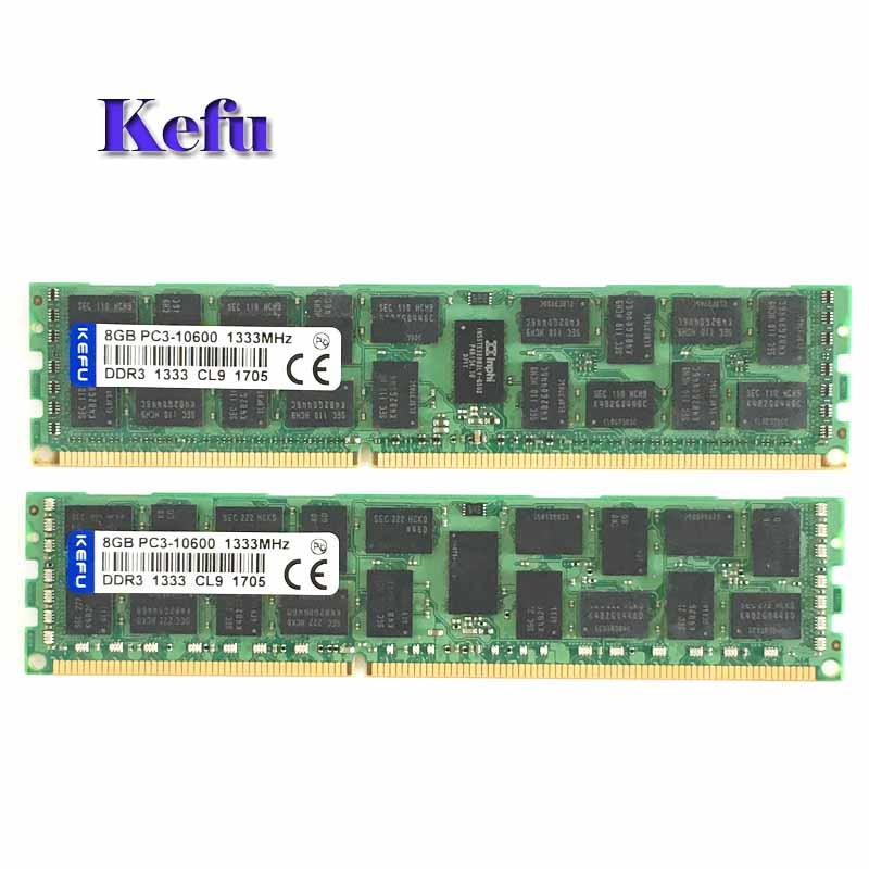 2x8GB PC3-10600R DDR3 1333mhz ECC Memory REG Registered 240-pin RAM 2RX4 server memory