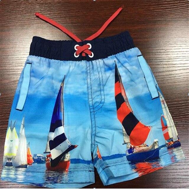 21104840f2 Fasion Children Boys Shorts 2017 Summer Custom Boardshorts Kids Beach Surf  Swimwear Childrens Board Shorts Sea Waves Bermudas