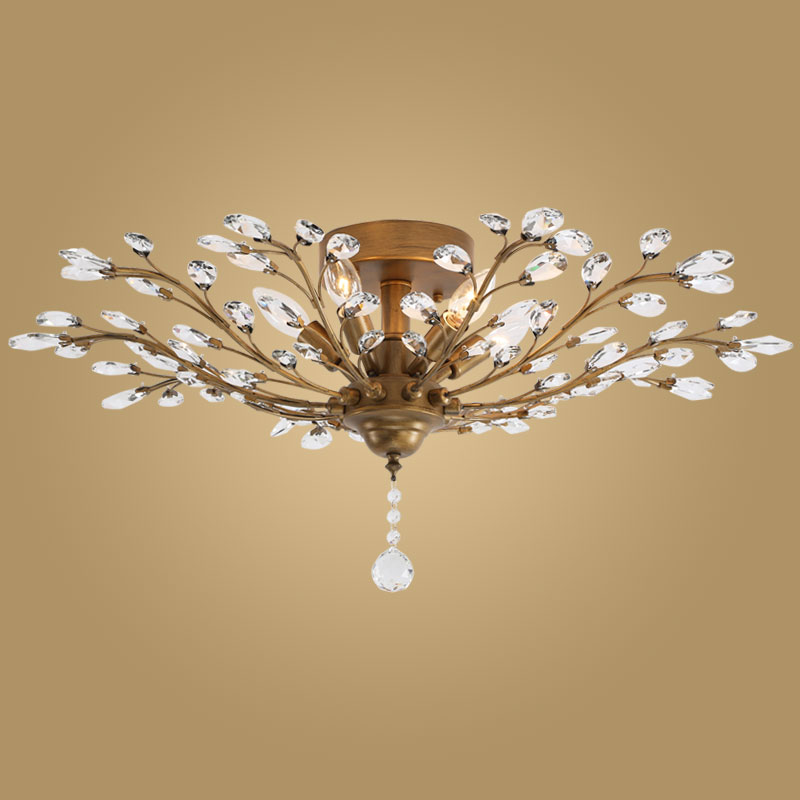 Modern Crystal Ceiling Light Fixtures for Bedroom Kitchen Living     Modern Crystal Ceiling Light Fixtures for Bedroom Kitchen Living Room  Crystal Branches Style Plafon Avize BLC057 in Ceiling Lights from Lights    Lighting on
