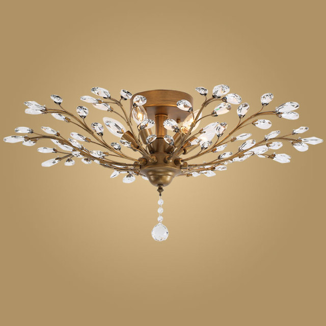 Aliexpresscom Buy Modern Crystal Ceiling Light Fixtures For - Best ceiling lights for bedrooms