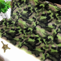 Camo Printing Plush Faux Fur Fabric Fashion Coat Hat Cushion Toy DIY Sewing Material 50cm Length