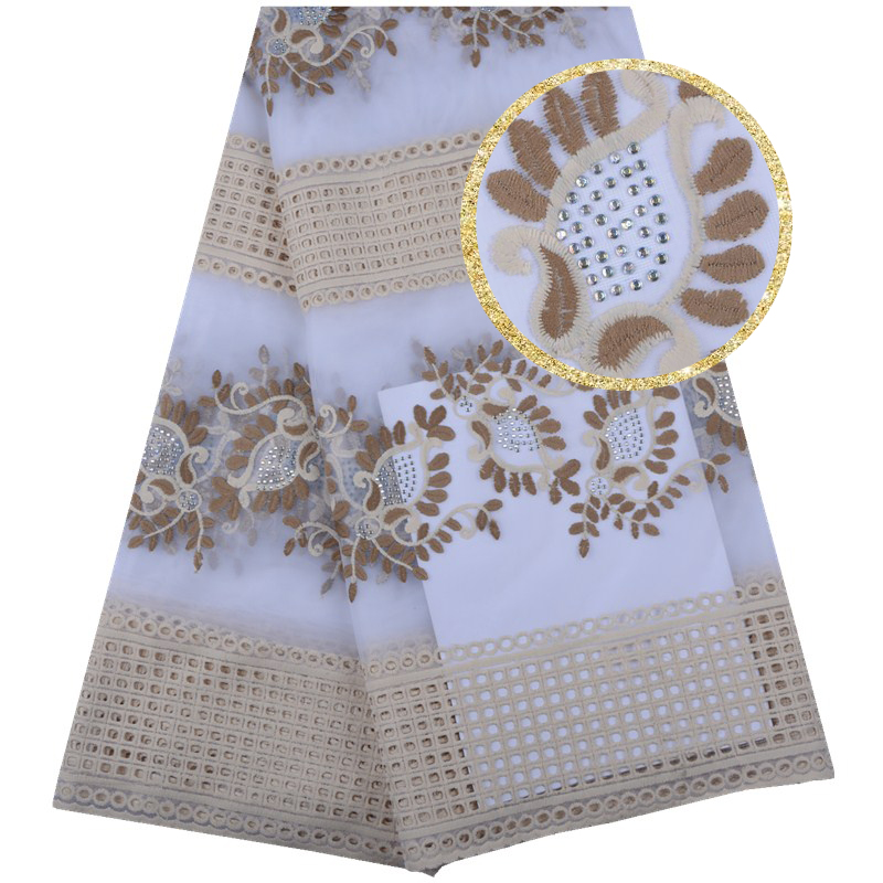 Home & Garden High Quality African Lace Fabric Latest Nigerian Milk Silk Lace Fabric With Stones Best Sale French Mesh Lace Fabric Dressf1580