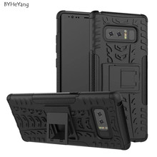 BYHeYang For Samsung Galaxy Note 8 Case Heavy Duty TPU+PC Silicone Kickstand Cover Daul Armor Back Case For Galaxy Note 8