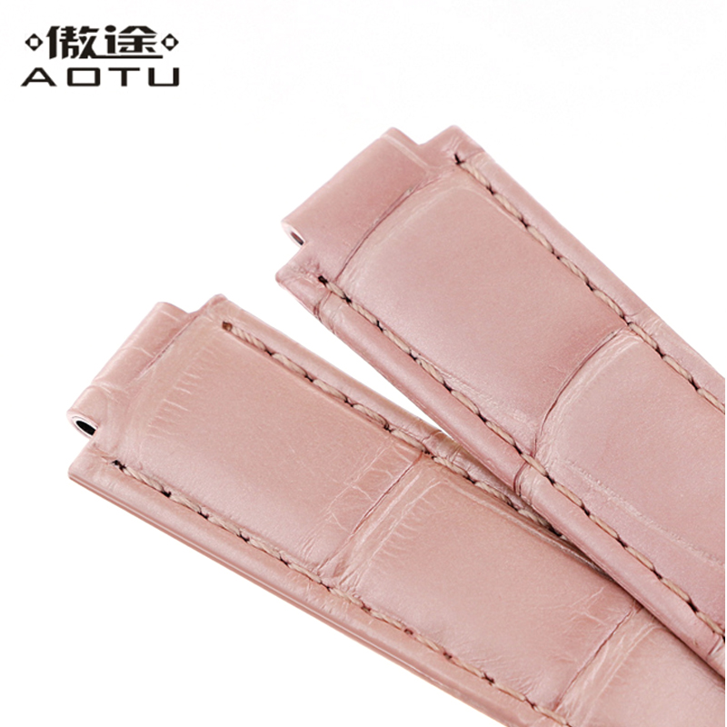 f95e7d55156 Genuine Leather Watch Straps For Cartier BALLON BLEU DE CARTIER Ladies  Crocodile Leather Watch Band Top Quality Women Bracelet-in Watchbands from  Watches on ...