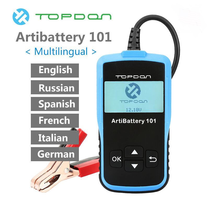Оригинальная Автомобильная батарея TOPDON AB101 li 101 12 В, проверка автомобильной батареи, цифровой анализатор батареи