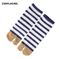 COSPLACOOL Stripe Two Fingers Socks Women Harajuku Unisex Harajuku Floor Meias Casual Breathable Calcetines Mujer