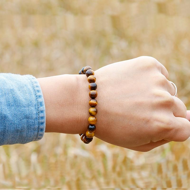 AAA Tiger eyes Beads Bracelet Men Charm Natural Stone Bracelets For Man Handmade Yoga Couple Women Gemstone Health Jewelry