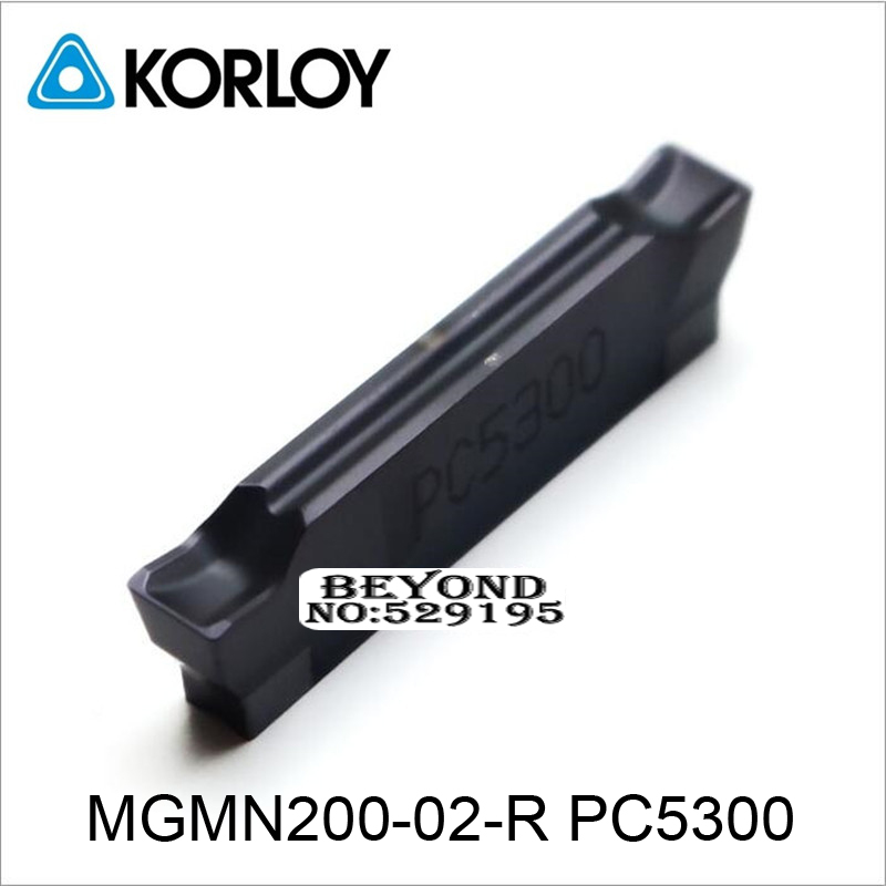 MGMN200 02 R PC5300 Two headed Cnc Cutting Korloy Carbide Coating Turning Insert For Grooving Holder
