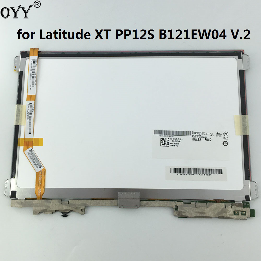new LCD display + touch screen digitizer Assembly upper half Replacement Parts for Dell Latitude XT PP12S B121EW04 V.2 srjtek for lenovo ideatab s5000 lcd display touch screen digitizer assembly replacement parts