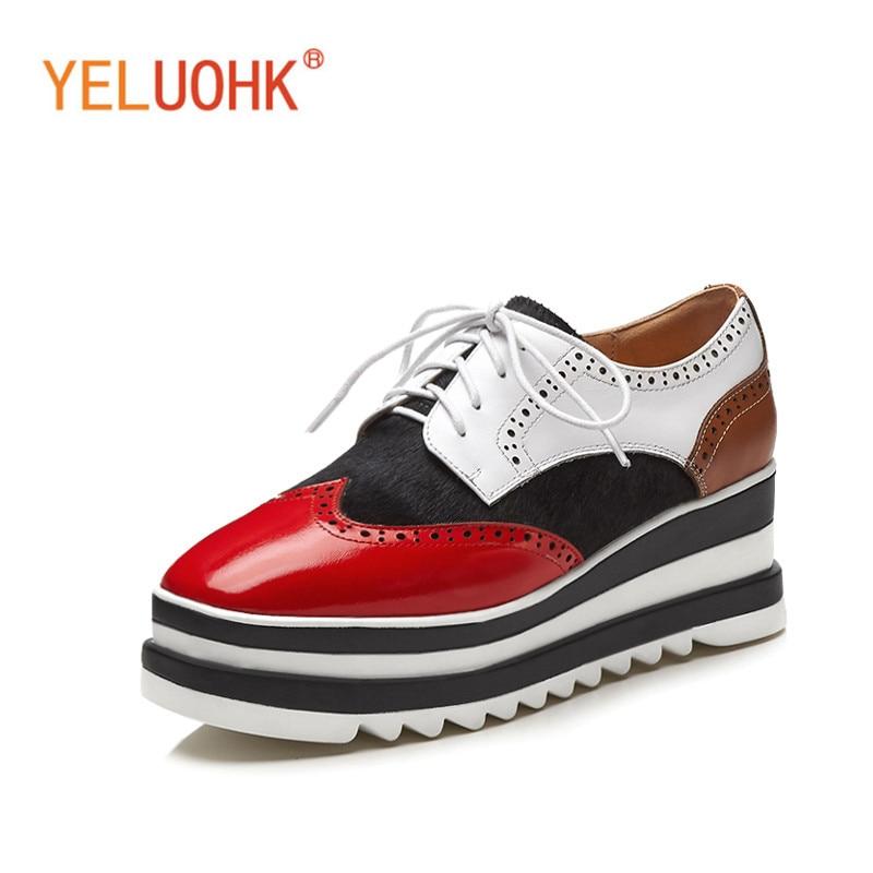 Platform Shoes Heels Women Genuine Leather Shoes Women Heels Wedges Pumps High Heels High Quality 6 CM цена