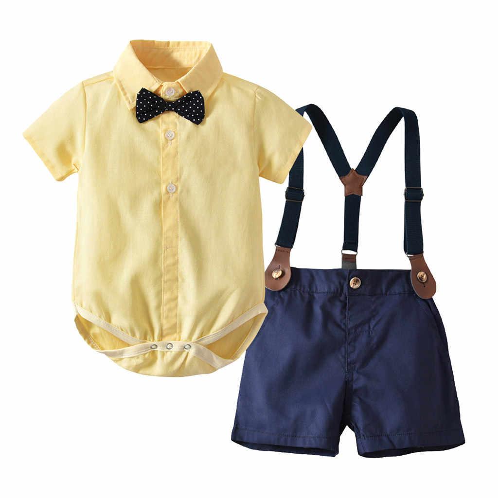 דיסני ילדים בני נטלמן Romper + ביריות מכנסיים סרבל תלבושות בגדי קיץ בני בגדי ילדים ילדי תלבושות