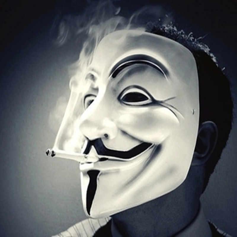 V per la Mascherina di Faida Maschera Maschera di Halloween Maschere Horror Partito Maske Masquerade Cosplay Spaventoso Maschera Divertente Terrore Mascara Villain Joke Maska