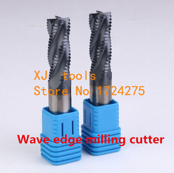 Free Shipping 1 pcs 4F*20*20*45*100mm  wave edge rough milling cutter  Milling Tools Carbide ,CNC milling tools, Nc tool