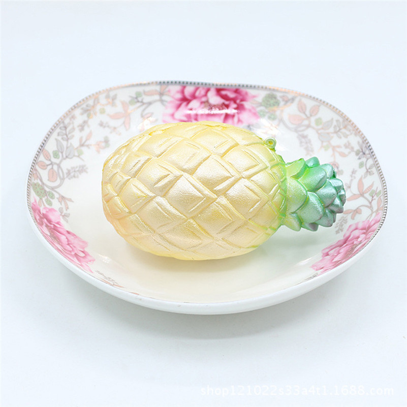Squishy Jumbo Pineapple Scented Cream Super Slow Rising Squeeze Toys Cure Toy Stress Reliever Toy Wooden  Toys For Children A1