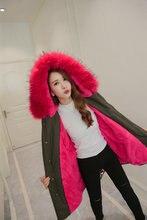 New 2016 coat Women parka autumn Winter Jacket Women Raccoon Fur Collar Lady Parka women Real fur feminine Coat female