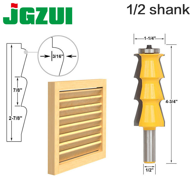 1pc Louver Shutter Style Router Bit - 1/2 Shank door knife Woodworking cutter Tenon Cutter for Woodworking Tools tungsten alloy steel woodworking router bit buddha beads ball knife beads tools fresas para cnc freze ucu wooden beads drill