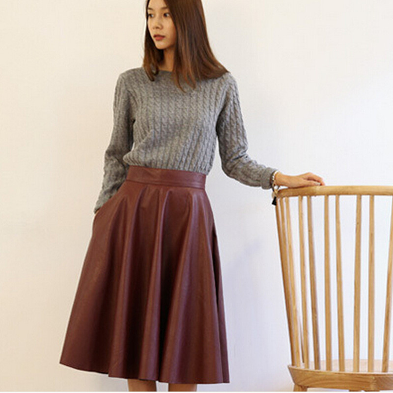Online Buy Wholesale long leather skirt from China long leather ...