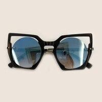 New Arrival Women Sunglasses High Quality Luxury Hollow Big Frame Fashion Sunglasses Eyewear 2019 Glasses With Box