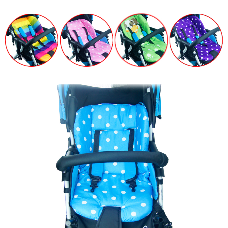Thick Colorful Baby Infant Floor Mat Breathable Stroller Padding Liner Car Seat  Seat Pushchair Pram Cushion Photo