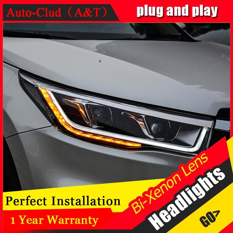 цена на Car Styling For Toyota HIGHLANDER headlights For HIGHLANDER head lamp Angel eye led DRL front light Bi-Xenon Lens xenon HID KIT