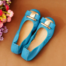 2017 Fashion Women Shoes Woman Flats high quality leather Casual Comfortable Round toe Rubber Women Flat Shoes Hot Sale